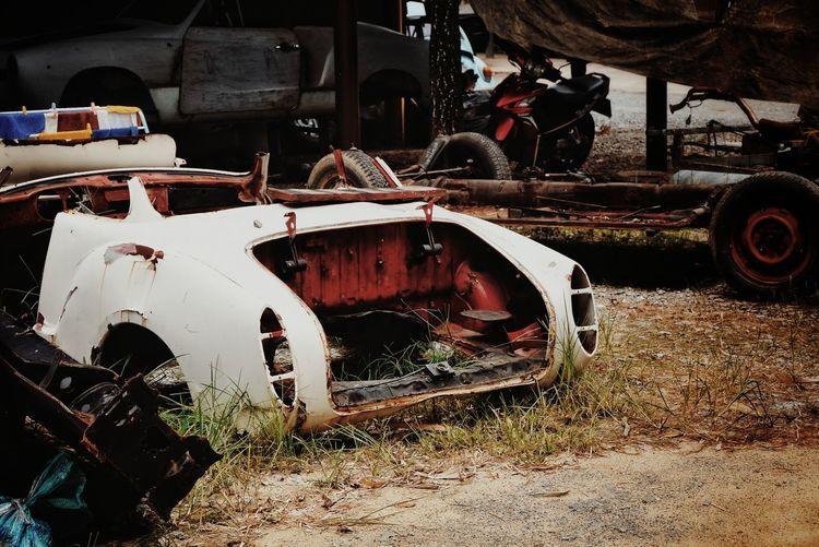 Old car in