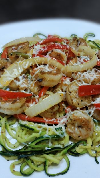 Close up & added cheese.. yuuummm ! Ready-to-eat Freshness Food And Drink Food Plate Close-up Indoors  Healthy Eating Gourmet Fancy Fancymeal Fitness Cookbook Girlswhocook Cheflife Savory Food Zuchinni Noodles Shrimps Yummy Famous EyeEm EyeEmBestPics Water Hydrate  Cleaneating