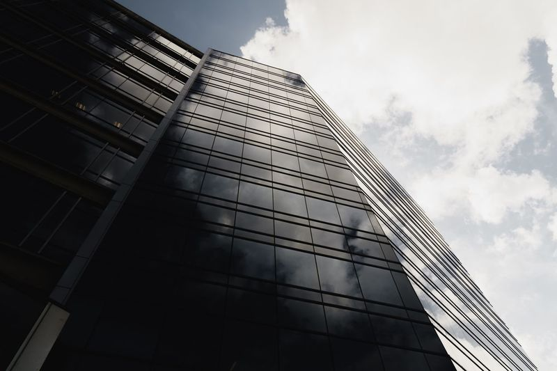Built Structure Building Exterior Architecture Low Angle View Sky Cloud - Sky City Building No People Office Tall - High Nature Office Building Exterior Modern Day Outdoors Reflection Glass - Material Tower Sunlight