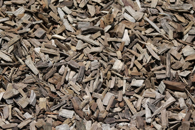 Full frame shot of wood chips