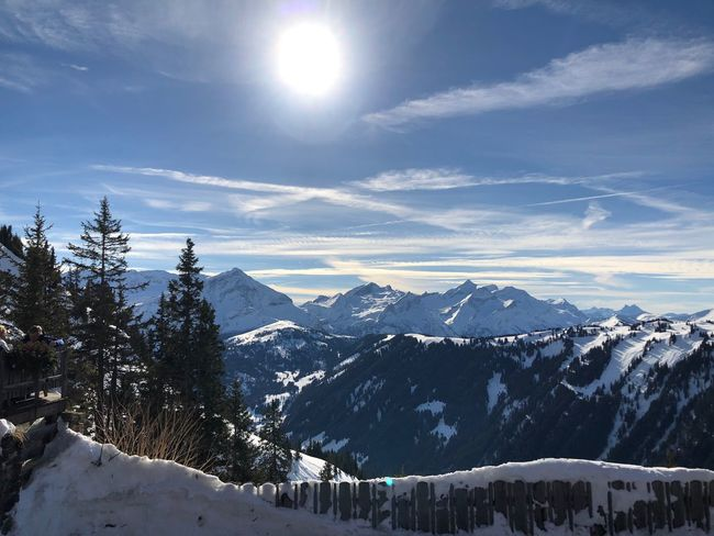 At the Eagle's EyEmNewHere Shades Of Winter I❤️Gstaad Eagles Club Bolonie Style Bolonie Arr Bolonie Snow Cold Temperature Winter Mountain Nature Beauty In Nature Tranquility Sky Weather Mountain Range Tranquil Scene Outdoors No People Scenics Landscape Day Tree An Eye For Travel Shades Of Winter