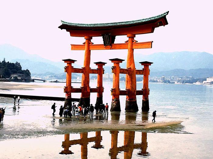 厳島神社 大鳥居 3月