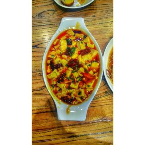 Spicy toufu. Marvelus! QingFangNoodleHouse