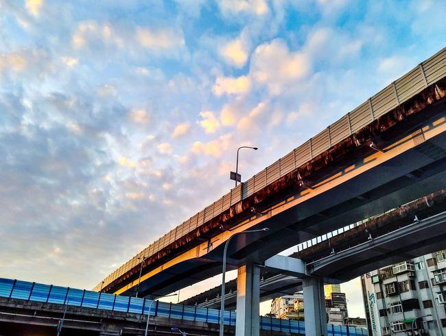 Bridge - Man Made Structure Architecture Low Angle View Cloud - Sky Outdoors Day No People Building Exterior Street Photography Taipei Modern TheWeekOnEyeEM Xhinmania EyeEm Taiwan Cityscape Week On Eyeem City Life