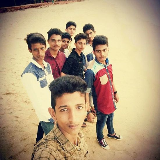 With ma friends