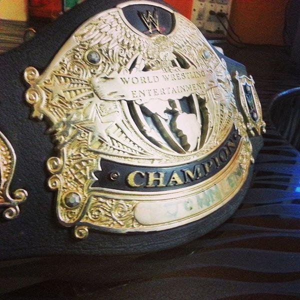 Throwback when i was WWE Champion XD ? Wwe Wrestlemania JohnCena Champion YouCantSeeMe XD