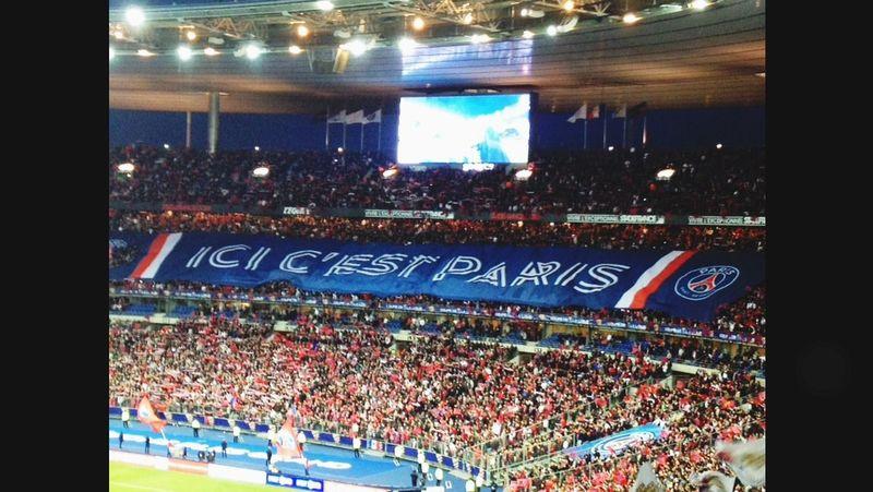 Football PSG  Soccer Parcdesprinces Stadium Supporters Team Alltogether