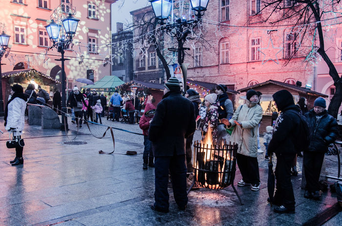 Christmas Day Fire Large Group Of People Outdoors People Street Photography Streetphotography Warm Warm Clothing Winter Wintertime