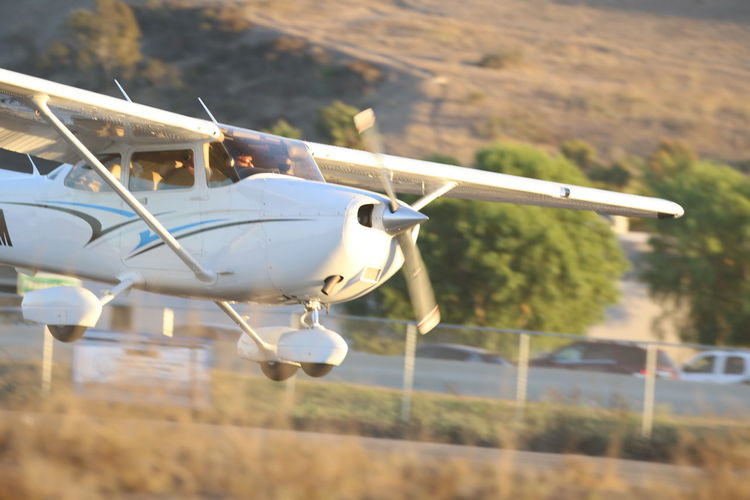 Air Vehicle Airplane Close-up Coming In Coming In To Land Day Flying Landing Approach Landing Plane Outdoors Private Airplane Propeller Airplane Transportation
