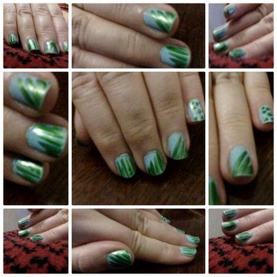 @wolfzuachis Nail Art Nail Polish Nailsart Closeup Nails Green Nailart  Fingers Nailpolish Wolfzuachis Colaj Eyeem Market Collage