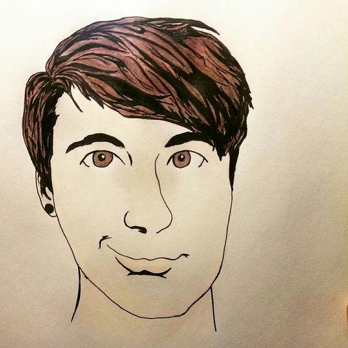 Comic book drawing of Dan Howell Danisnotonfire  DanHowell Comic Drawing Sketch
