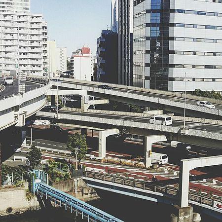 Highways Flyovers Tokyo Japan TokyoDec2016 Tokyowinter 2016