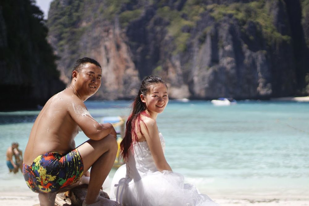 Boda Wedding Photography Wedding Casual The Beach  Koh Phiphi Maya Beach Thai Thailand Phuket ASIA Sea Smile