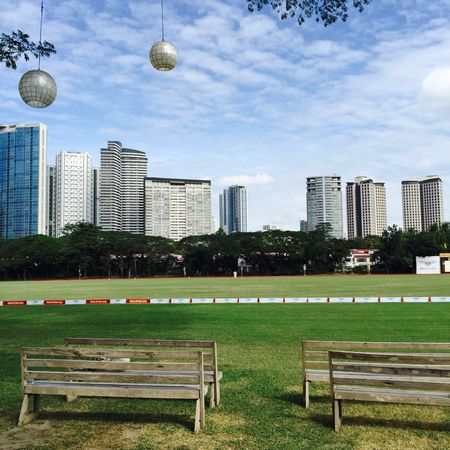 Cinema In Your Life My Favorite Photo Field Green Eyeem Philippines Polo Field Grass Cityscape