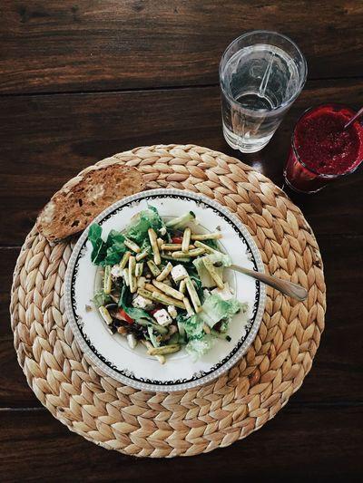 My Favorite Breakfast Moment Salad Healthy Eating Healthy Chicken Salad Delicious Juice Water Food