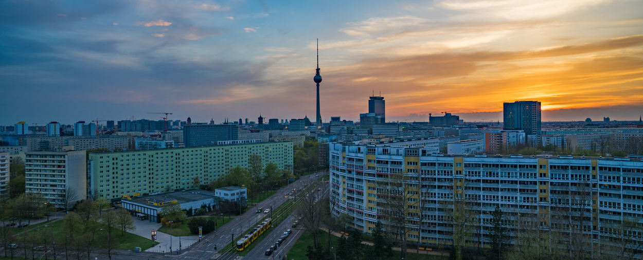 Beautiful panoramic view on Berlin during the sunset, Germany Alexanderplatz Berlin Cityscape European  Panorama Sunset_collection Architecture Building Building Exterior Built Structure City Cityscape Cloud - Sky Nature No People Office Building Exterior Outdoors Sky Skyscraper Spire  Sunset Tall - High Tower Travel Destinations