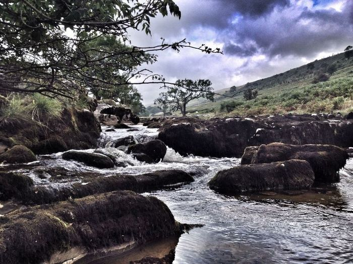 Wensleydale Yorkshire Dales Yorkshire Brook River Riverside Autumn Autumn Colors Water Water_collection EyeEm Nature Lover Iphonephotography Hawes Clouds