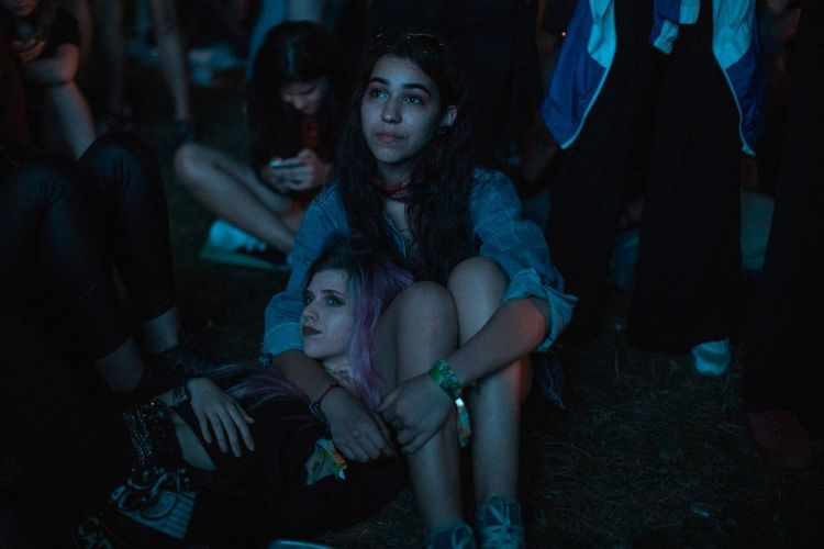 Night Sitting Women Two People Young Women Festival Season Popular Music Concert EyeEmNewHere Editor's Picks
