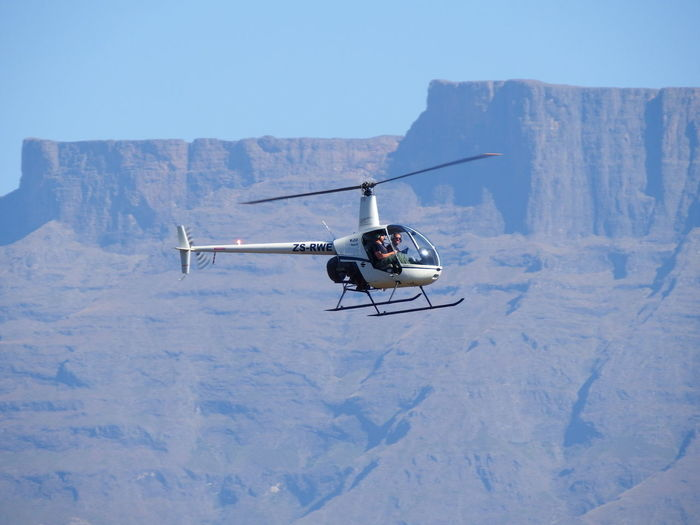 Drakensberg, South Africa El Mirador Helicopter Air Vehicle Flying Mid-air Mode Of Transportation Mountain Transportation Winter