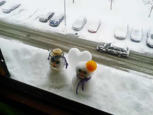 Tiny snowmans ❄⛄❄⛄❄ Snowman Mini Snowman My Snowman Snowmans Snowman⛄ Snowman:) Snowy Snowyday Snow ❄ Winterfun Making A Snowman Cold Winter ❄⛄ First Snow Snow Day Snow❄⛄ Little Snowman Winter Fun Wintertime