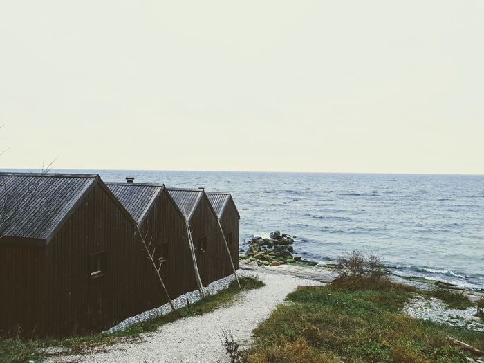 Gotland Sweden Autumn colors Autumn Rock Water Sea Clear Sky Beach Sky Horizon Over Water Cabin Shore Seascape Ocean