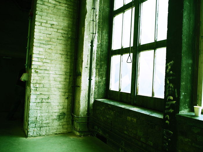 Architecture Artsy Green Color Home Interior House Indoors  Industrial No People Olympus Random Wall Window