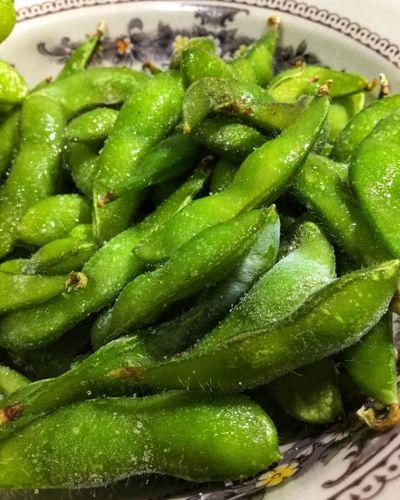 ถั่วแระ Green Soybeen Greensoybeans Food And Drink Food Healthy Eating Wellbeing Green Color Freshness Vegetable Vegetarian Food Bowl Green