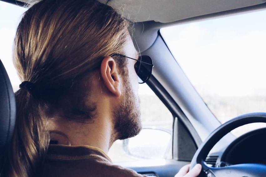 Long Hair Longhair Beard Bearded Sunglasses Neck Road Trip Side View Drivers View Drivers Seat Mode Of Transportation Motor Vehicle Car Transportation Headshot Vehicle Interior One Person Lifestyles Close-up Car Interior Window Glass - Material Looking Hairstyle Portrait Young Adult Side View Land Vehicle Indoors  Travel
