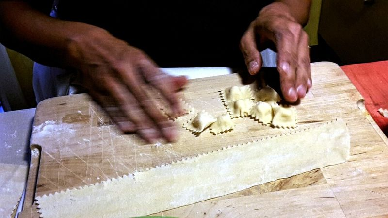 Handmade For You Stuffed Pasta Ravioli Fresh Pasta Typical Food Italian Food Human Hand Working Homemade Human Body Part Indoors  In The Kitchen Food Food Photography Women Around The World