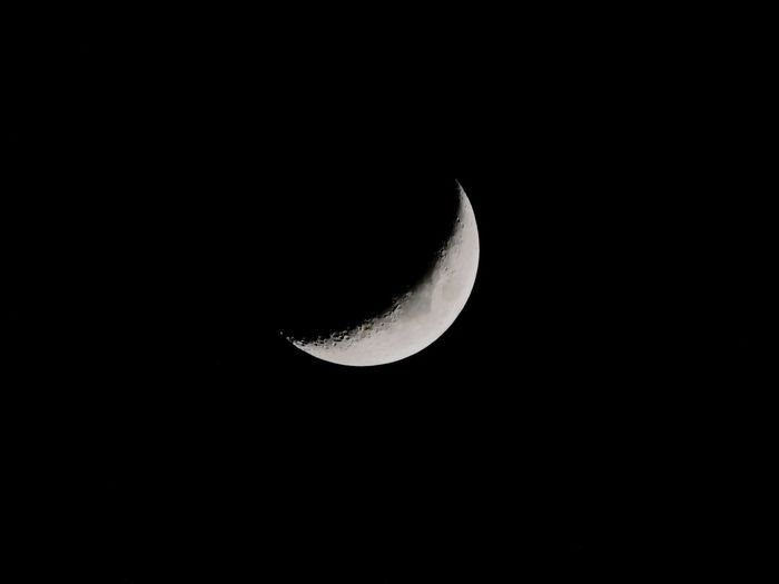 moon Astronomy Space Crescent Half Moon Moon Moon Surface Planetary Moon Copy Space
