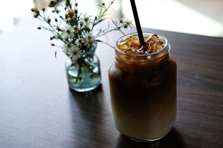 Close-up Coffee - Drink Day Drink Drinking Glass Drinking Straw Focus On Foreground Food And Drink Freshness Healthy Eating Iced Coffee Indoors  Nature No People Refreshment Table