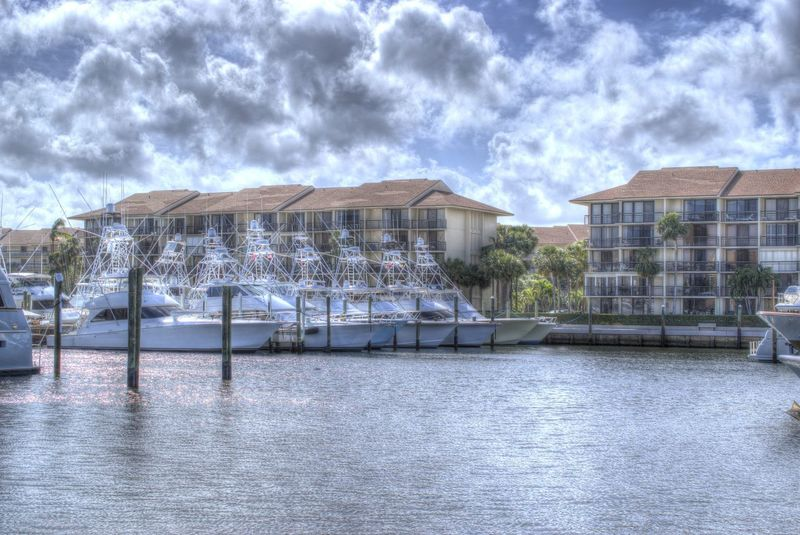 Jupiter Fl Jupiter Florida Architecture Boats Building Exterior Built Structure Cloud - Sky Day Marina At The Bluffs Nature No People Outdoors Sky Tranquility Water Waterfront