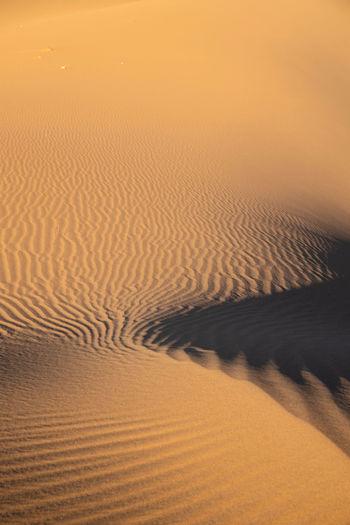 Scenic view of desert during sunset