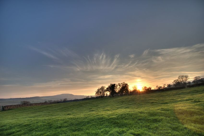 Dramatic Sky Landscape North Yorkshire Penhill Sunset Yorkshire Dales