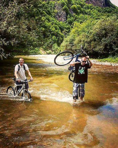 Bike River With My Friend Zoka Do Koljena Zagazili
