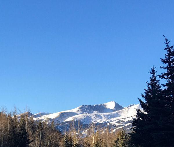 Winter view of Breckenridge Majestic Nature Blue Sky Landscape Ski Season Winter Snow Colorado Photography Mountain View