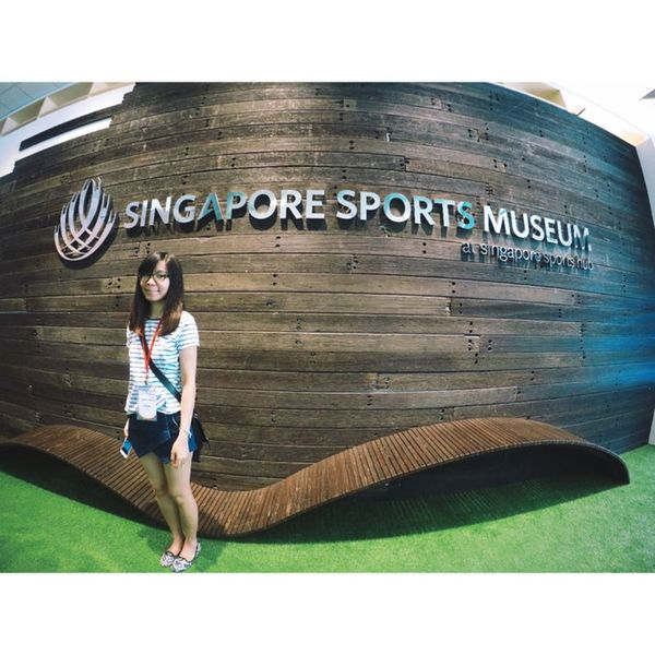 Today's outing to sports hub! Sportshubsg