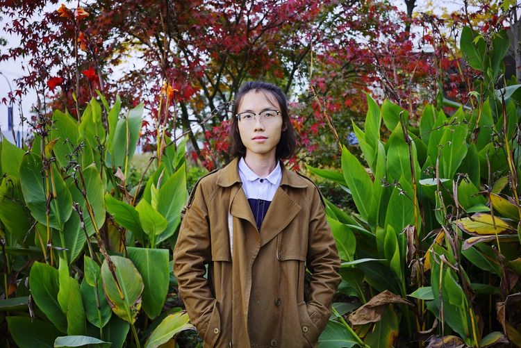 南京之秋,江心洲 Tree Child Portrait Autumn Rural Scene Leaf Front View Girls Looking At Camera