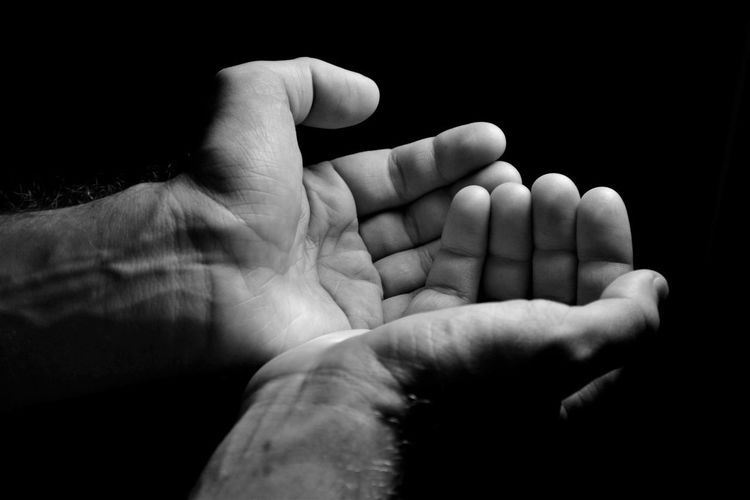 Asking For Help Black And White Black Background Care Close-up Fragility Gesture Hand Hand Gestures Indoors  Indoors  Low Light Photography Need People Real People Togetherness