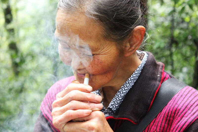 OpenEdit Pepole Forests Oldman Traveling Cigarette  Smoke Smoking