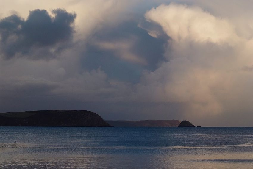 Moody sky Sea Scenics Sky Beauty In Nature Nature Water Tranquility No People Cloud - Sky Tranquil Scene Outdoors Horizon Over Water Beach Day Portscatho Harbour Roseland Peninsula Cornwall Uk