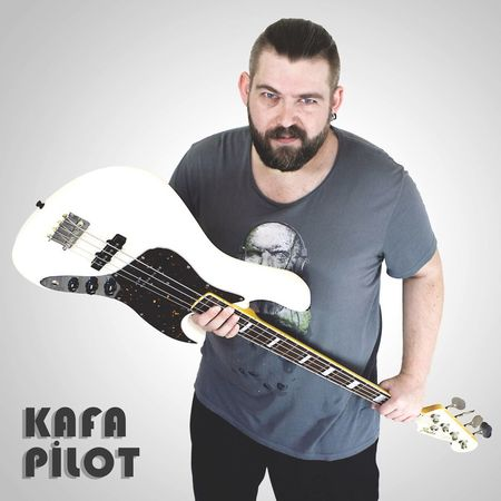 Beard T-shirt Guitar Bass Casual Clothing Studio Shot Portrait Standing One Person White Background Rock Music Musician People Adult One Man Only