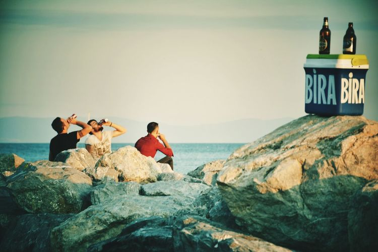 Beach People Outdoors Beer Sea Adults Only Summer Men Relaxation Sitting Drinking Istanbul Turkey First Eyeem Photo