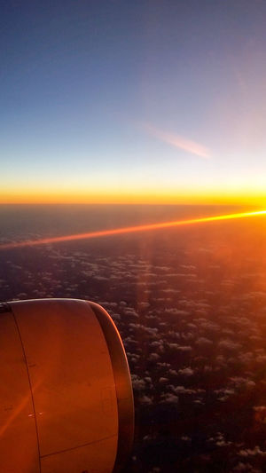 Airplane Sunset Sky Journey Aerial View Landscape Cloudscape Turkishairlines Overtherainbow