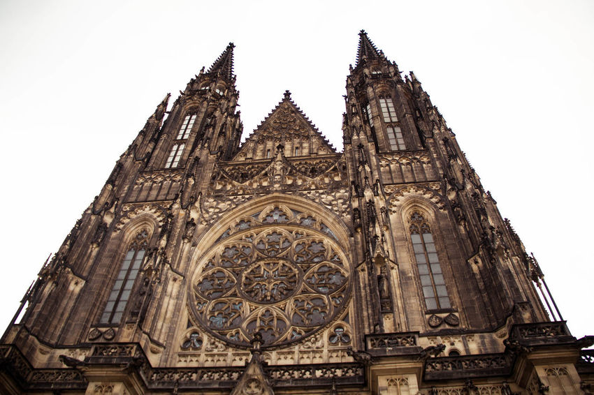 Art And Craft Beautiful Cathedral Love Moment Prague Architecture Art Building Exterior Built Structure Day Enjoying Life Gothic Style Hardwork History Low Angle View No People Outdoors Place Of Worship Popular Religion Sky Spirituality Travel Destinations