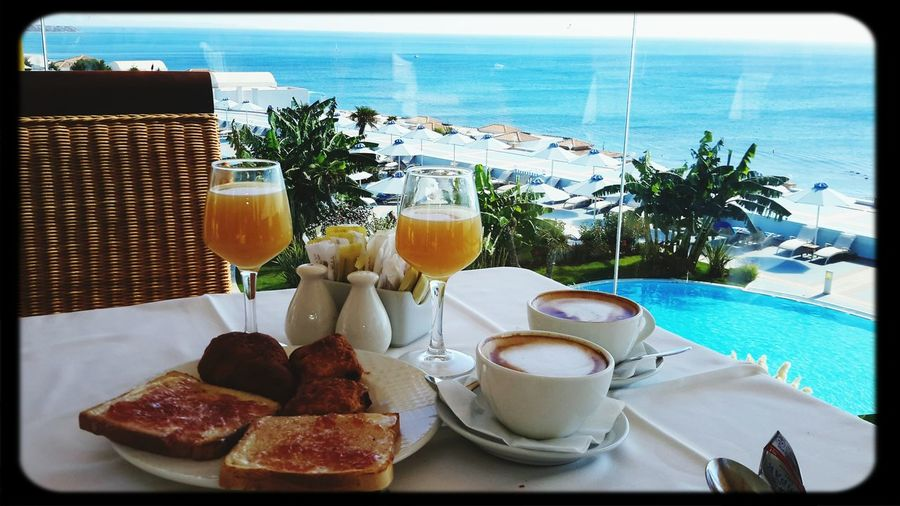 breakfast with amazing seaview