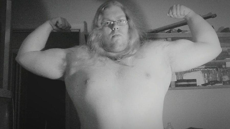 Metalboy Metalhead Guyswithlonghair Powerlifter Asatru Viking Norse Nordic Mjolnir Thor's Hammer