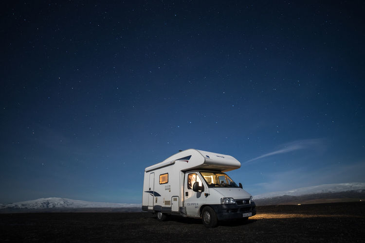 campervan adventures Astronomy Beauty In Nature Galaxy Landscape Lonely Tree Moon Mountain Nature Night No People Outdoors Rural Camping Rural Scene Scenics Sky Star - Space Transportation