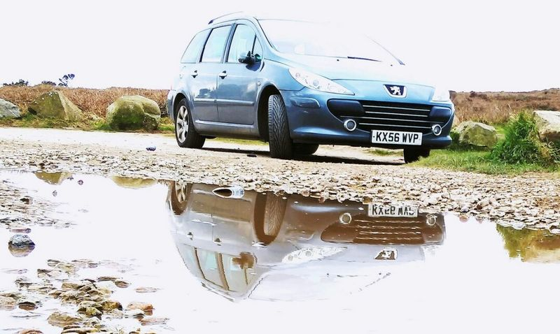 Puddle reflection,carn brea Car No People Land Vehicle Outdoors Day Taking Photos Kernow Cornwall Uk Androidography Cornwall Phonecamera Peogout Reflections In The Water Carn Brea