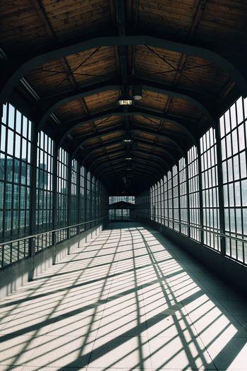 Interior of empty railroad station